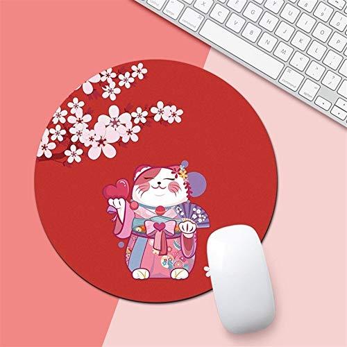 Jeu tapis de souris Tapis de souris Antiderapant caoutchouc Tapis de souris ronds Tapis de souris d'ordinateur portable 2 Pcs (Color : D, Size : 20cm)