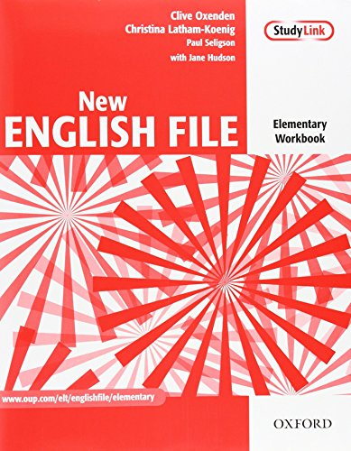 New English File: Elementary: Workbook with key and MultiROM Pack: Six-level general English course for adults: Workbook, MultiROM and Answer Booklet Pack Elementary level by Clive Oxenden (25-Mar-2004) Paperback