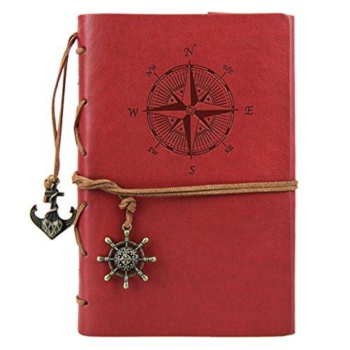 Liying Retro Skizzenblock Tagebuch Notizbuch Softcover DIN A5 Kraftpapier Blanko Geschenkbucher...