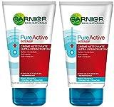 Garnier Skin Naturals - Pure Active Intensif Crème Nettoyante Ultra-désincrustante 150 ml - lot de 2