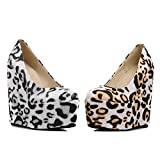 THE LONDON STORE Women's Multi-Color Leather Pumps Wedges