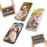 PixiPrints Premium Handyhülle für Apple iPhone-Serie selbst Gestalten mit eigenem Foto und Text * Bild Cover Kappe Schutzhülle, Handymodell:Apple iPhone 4 / 4S, Hülle:TPU-Silikon/Schwarz Matt