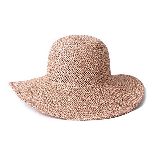Chapeau d'été/Chapeau de soleil/Chapeaux de plage/Grand chapeau de soleil/Tissés à la main pliage voyage chapeau D