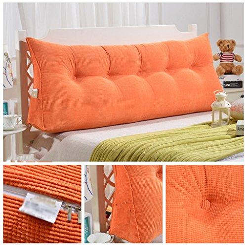 MNII Big Backrest Kissen dreieckiges Kissen Neck Schutz Soft Kissen Doppel-Kissen Pissen Pillow Household (Orange) 60~200CM,200cm