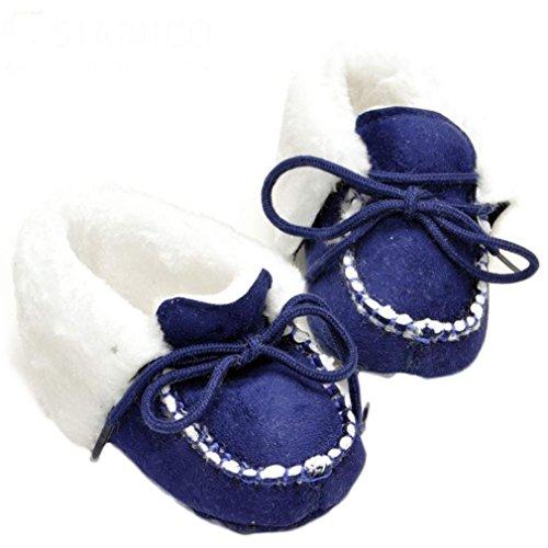 BZLine® Baby Mädchen weichen Sohle Krippe warme Baumwolle Stiefel Marine
