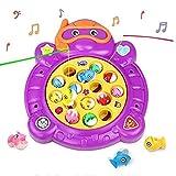 HCHENG TOYS Gioco della Pesca Giocattolo Musicale Pinguino Giochi con 15 pezzi per Bambini 3 4 5 Anni, Colore Casuale