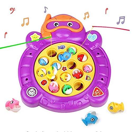 HCHENG Juego Pesca Mesa Juguete Musical Educativo