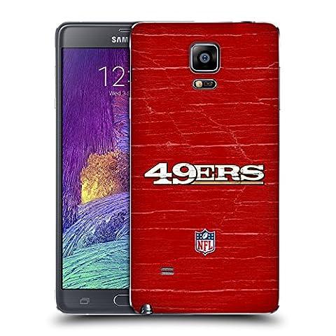 Officiel NFL Affligé San Francisco 49Ers Logo Couvercle Batterie de remplacement pour Samsung Galaxy Note 4