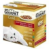 Gourmet Gold Multipack Zarte Häppchen in Sauce 8 x 85 g Stück