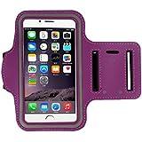 iPhone 6S Plus brazalete (5.5inch), Koly–Running Deportes a prueba de sudor brazalete gimnasio iphone 6s + brazo banda Funda, morado, iPhone 6/6S Plus