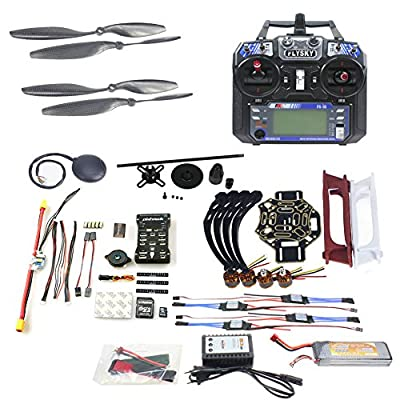 Qwinout DIY FPV Drone Quadcopter 4-axle Aircraft Kit :450 Frame + PXI PX4 Flight Control + 920KV Motor + GPS + FS-i6 Transmitter + Battery from QWinOut