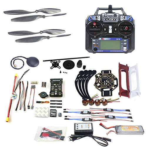 Qwinout DIY FPV Drone Quadcopter 4-axle Aircraft Kit :450 Frame + PXI PX4  Flight Control + 920KV Motor + GPS + FS-i6 Transmitter + Battery by QWinOut