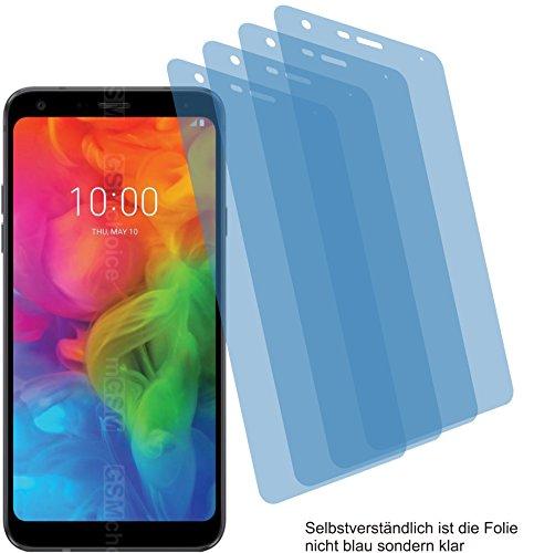4X Crystal Clear klar Schutzfolie für LG Q7+ Plus Bildschirmschutzfolie Displayschutzfolie Schutzhülle Bildschirmschutz Bildschirmfolie Folie