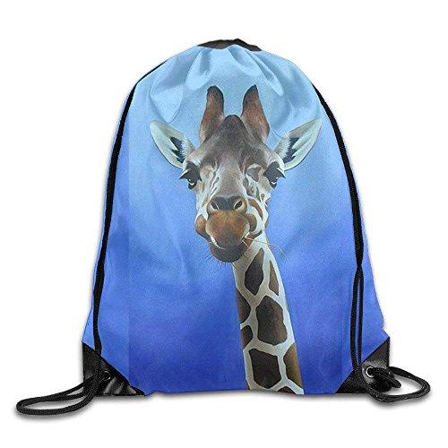 HLKPE Cool Drawstring Backpack Cute Giraffe Art Design Print Drawstring Backpack Rucksack Shoulder Bags Gym Bag (Lace-designs Coole Vans Für)