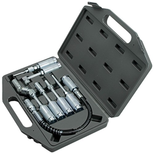 7 pièces, accessoires pour pistolet graisseur, adaptateur, kit extension, raccord coudé