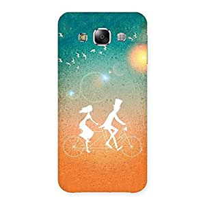 Cycle Couple Dream Back Case Cover for Samsung Galaxy E5