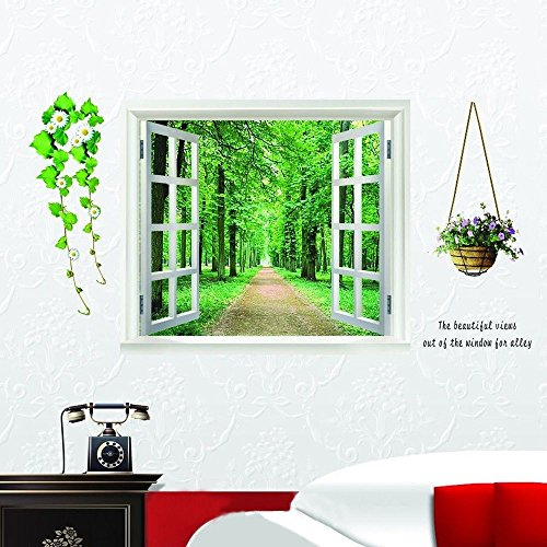 3d-huge-green-view-plant-flowers-window-wall-stickers-art-mural-decal-wallpaper-new-diy-kids-removab