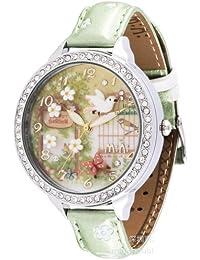 ufengke® mode strass kinder armbanduhren für mädchen-vogelblume geheimen garten thema
