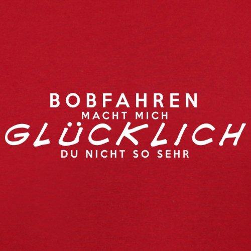 Bobfahren macht mich glücklich - Herren T-Shirt - 13 Farben Rot