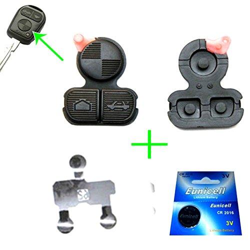 für 1x BMW Funkschlüssel Schlüssel Tastenfeld Gummi + 1x Batterie CR2016 + 1x Kontaktfolie