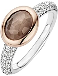 Ti Sento Milano  - Ring 925 Sterling-Silber  rhodiniert Silber Rundschliff   grün Cristal Oxyde de Zirconium