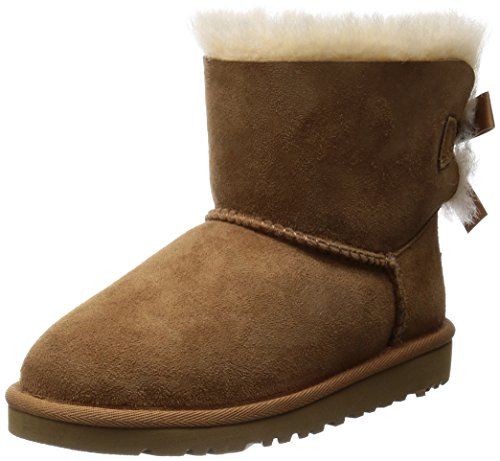 UGG Unisex-Kinder Mini Bailey Bow Kurzschaft Stiefel, Braun (Chestnut), 31 EU