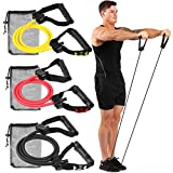 Gallant Light Exercise Resistance Band With Handles - Single Light Yellow Resistance Elastic Tube Level / Excellent For Fitness Home Workout Training Stretch Cord Men Women Heavy Duty Quality