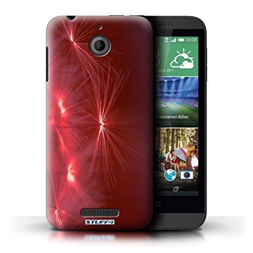 Kobalt® Imprimé Etui / Coque pour HTC Desire 510 / Turquoise conception / Série Allumez la vie Rouge