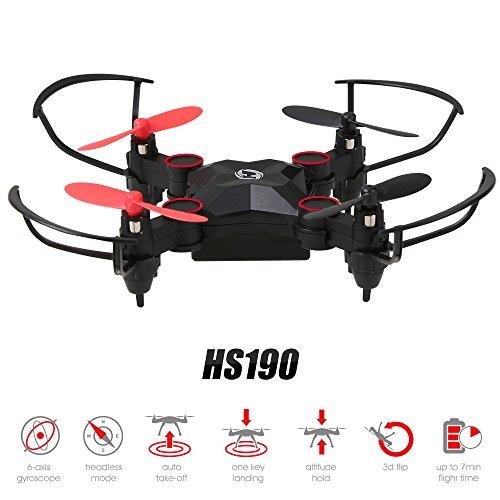 Holy Stone Mini Drone Pieghevole HS190 No Camera Nano RC Droni per Bambini Regalo Pocket Quadcopter Portatile con Altitude Hold 3D Flip e Headless Mode Facile da Pilotare per Principianti