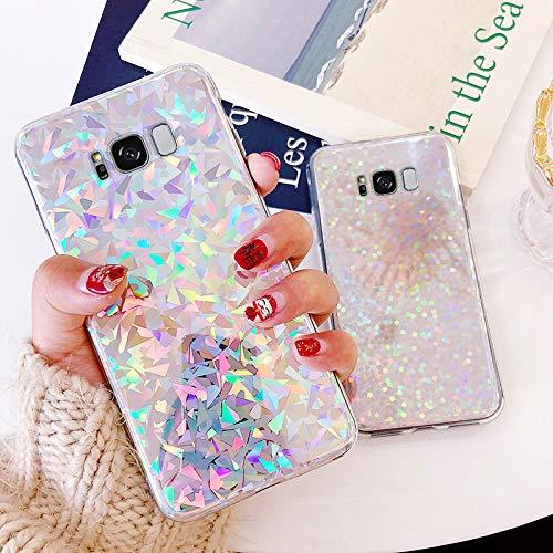 PHEZEN Hülle für Galaxy S8 Case Glitzer Bling Glitzer Glänzend Laser Pailletten Diamant