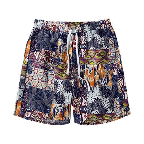 XZDCDJ Hose Kurz Männer Sommer Locker Hotpants Capri 3/4 Mode Multi Color Board Mesh Liner schnell trocknend Beiläufige Surf Beach Shorts 3/4 Base Layer Pants
