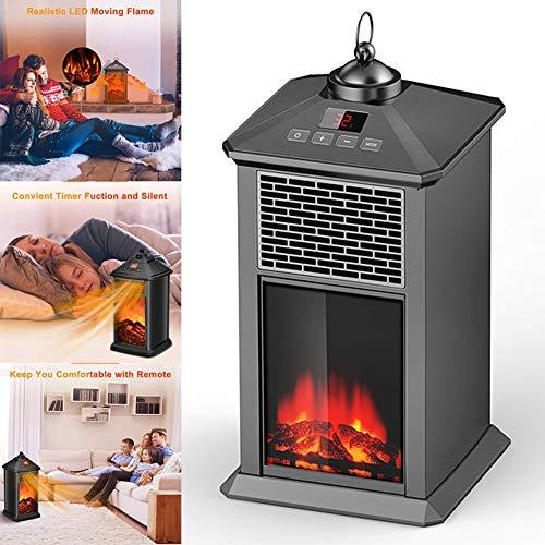 Heating Chimenea Eléctrica Calefactor Tipo Estufa de Pie con Efecto de Leña Ardiendo con Temporizador...