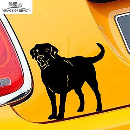 tzxdbh 12,2 cm * 12,8 cm Nette Familie Haustier Tier Labrador Retriever Hund Auto Abdeckung Scratch Aufkleber Auto Dekorative Abziehbilder -