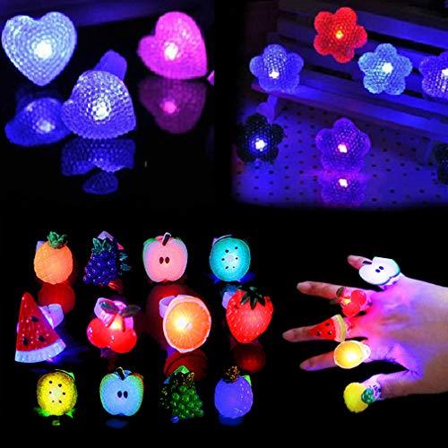 nde Ringe Leuchtringe Finger Licht Led für Täntze, Musikfestival, Party, Allerheiligen, Halloween, Weihnachts ()