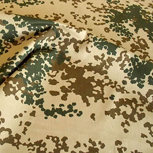 TOLKO Camouflage Stoff aus Baumwolle   Robust, Farbecht und UV-beständig   Uniform Meterware im Tropen Flecktarn der Bundeswehr   mittelschwer 160cm breit (Bundeswehr Wüste)