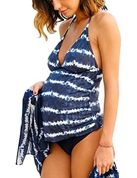 [Sponsorizzato]Summer Mae Costumi da bagno Premaman Maternità Tankini Imbottite da Donna