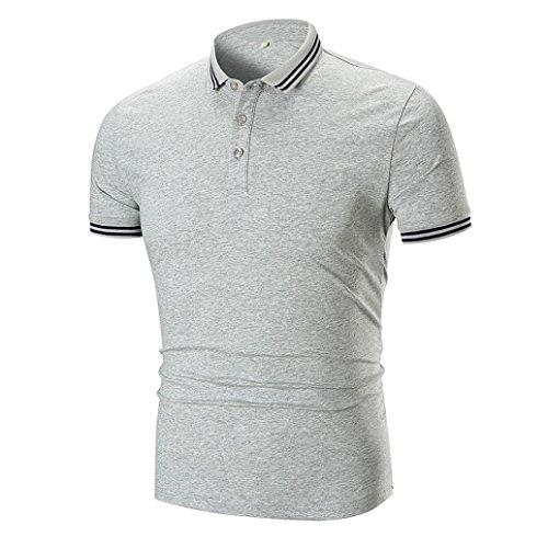 UFACE Männer Revers Kurzhülse T-Shirt Männer Sommer Casual Umlegekragen Pullover Kurzarm T-Shirt...