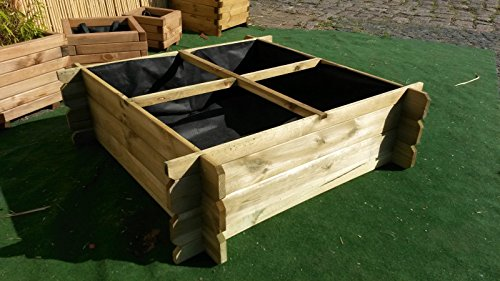 Hochbeet 100 x 100 x 30 Holz Stecksystem Kräuterbeet Komposter Holzkomposter