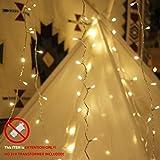 myCozyLite extender chaîne LED, 10m, 100 LED, blanc chaud, fiche et prise, étanche à l'eau (extension, No transformateur inclus)