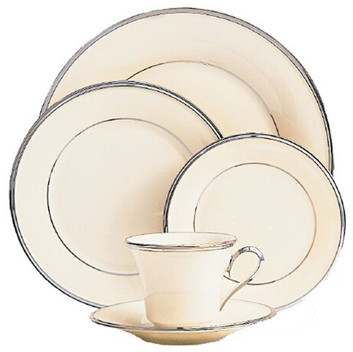 Lenox Solitaire Platinum Banded Ivory China Cup by Lenox Platinum Ivory China