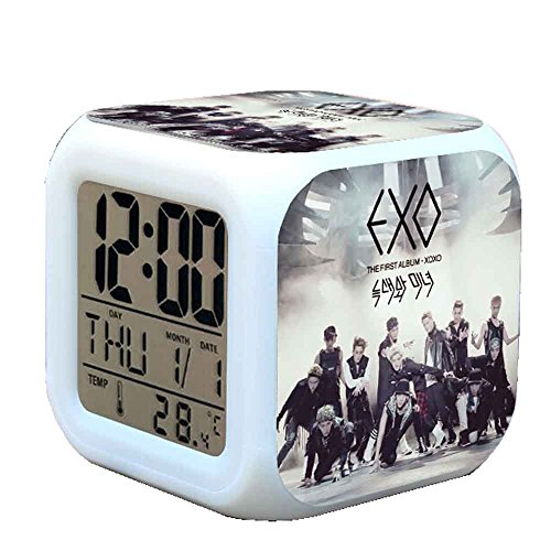 R-timer New Anime Korean EXO Alarm Clock LED Light Nightlight Accessories for Teenager X# (Anime-alarm)