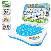Faironly Multifunction Language Learning Machine Kids Laptop Toy Early Educational Computer Tablet Reading Machine