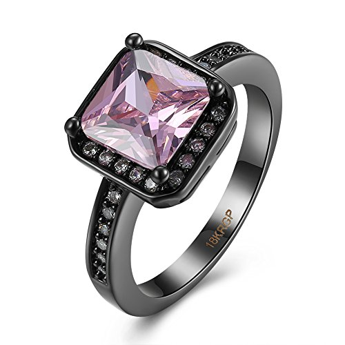 Thumby Copper Black Gun Plated 4.8g Romantic Mini Diamond Ring for (Black Design Kostüm Dahlia)