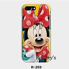 New Disney MINNIE CARTOONS trasparente Cartoons character and others trasparente in poliuretano termoplastico per iPhone-Cover per Apple iPhone 7, 8 , 7PLUS & 8PLUS plastica, (iphone 7/8, MINNIE SMILIE)