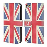 Head Case Designs Union Jack London Brieftasche Handyhülle aus Leder für iPod Touch 5th Gen / 6th Gen
