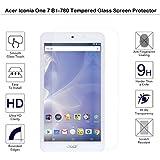Acer Iconia One 7B1–780–Protector de pantalla de cristal templado Fiimi Protector de pantalla para Acer Iconia One 7B1–780,9h dureza, 0,3mm de espesor con cristal