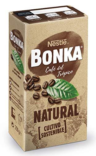 Bonka Café molido de tueste natural y cultivo sostenible - 250 g - [pack de 4]