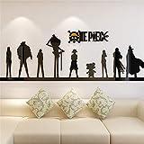Suuyar Cartoon Anime One Piece 3D Wandaufkleber Acryl Wohnzimmer Sofa Hintergrund Wand DekorationenSchlafzimmer Schlafsaal Schlafzimmer Aufkleber 100 Cm X 30 Cm
