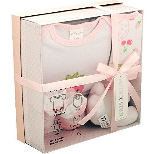Set regalo per neonati composto da 4pezzi, 0/3mesi- pink set neonato