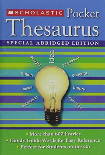 Scholastic Pocket Thesaurus Special Abridged Edition